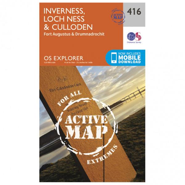 Ordnance Survey - Inverness / Loch Ness / Culloden Waterproof - Hiking map