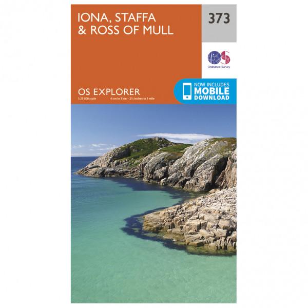 Ordnance Survey - Iona / Staffa / Ross Of Mull - Vandrekort