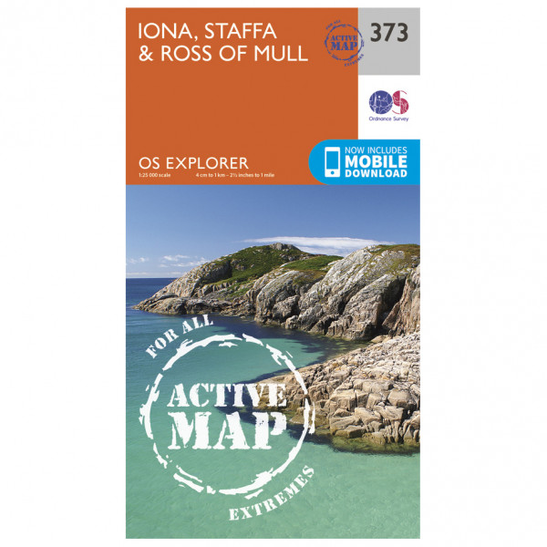 Ordnance Survey - Iona / Staffa / Ross Of Mull Waterproof - Vandrekort