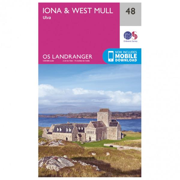 Ordnance Survey - Iona / West Mull - Vandringskartor