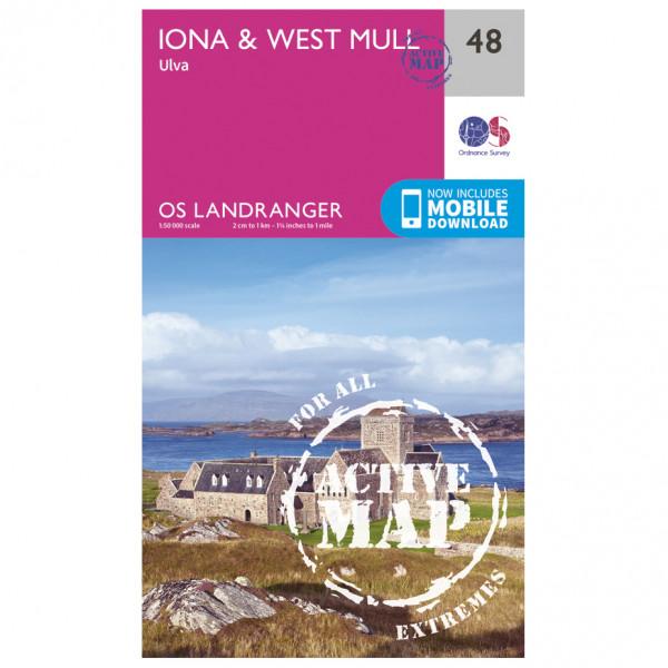 Ordnance Survey - Iona / West Mull Waterproof - Hiking map