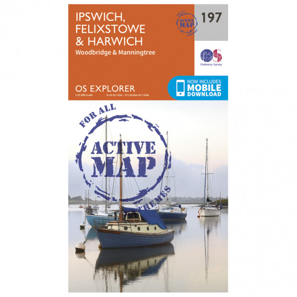 Ordnance Survey - Ipswich / Felixstowe / Harwich Waterproof - Hiking map