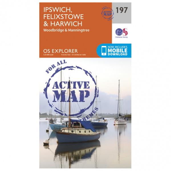 Ordnance Survey - Ipswich / Felixstowe / Harwich Waterproof - Vandrekort