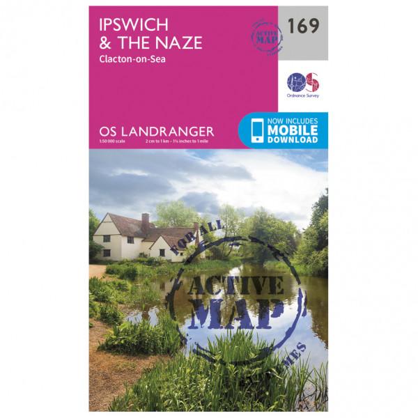 Ordnance Survey - Ipswich / The Naze / Clacton-On-Sea Waterproof - Vaelluskartat