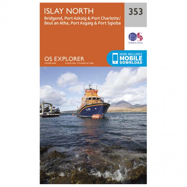 Ordnance Survey - Islay North EXP353 - Wanderkarte