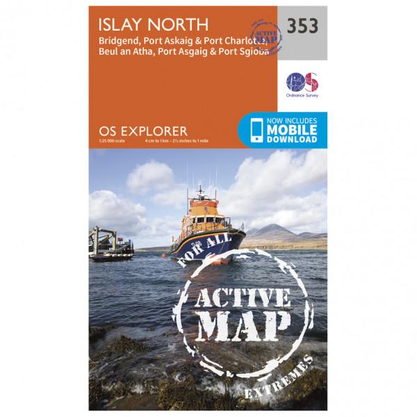 Ordnance Survey - Islay North Waterproof - Wanderkarte