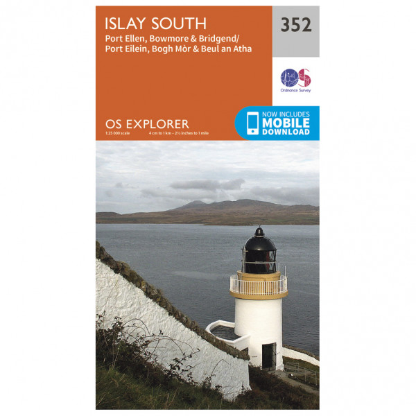 Ordnance Survey - Islay South EXP352 - Wanderkarte