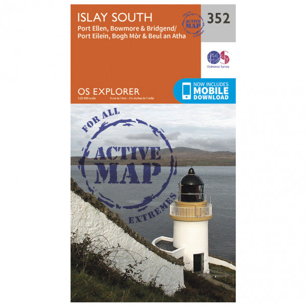 Ordnance Survey - Islay South Waterproof - Mapa de senderos