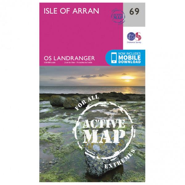 Ordnance Survey - Isle Of Arran Waterproof - Vaelluskartat