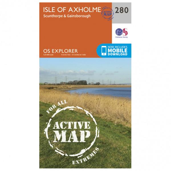 Ordnance Survey - Isle Of Axholme / Scunthorpe / Gainsborough Waterproof - Vandringskartor