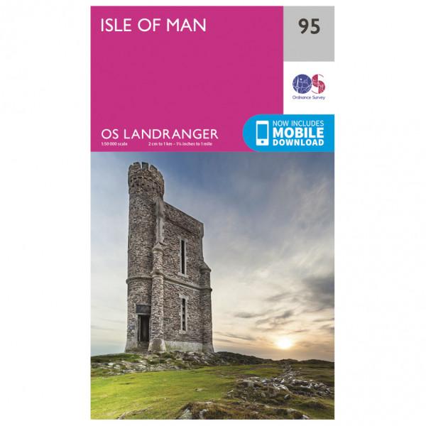 Ordnance Survey - Isle Of Man - Vandrekort
