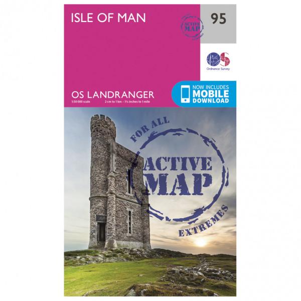 Ordnance Survey - Isle Of Man Waterproof LA095 - Wanderkarte