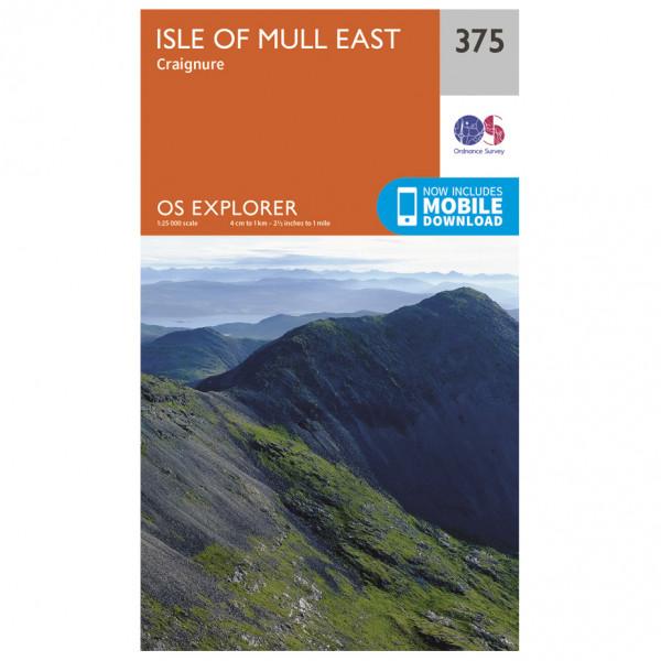 Ordnance Survey - Isle Of Mull East - Hiking map