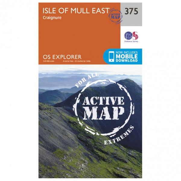 Ordnance Survey - Isle Of Mull East Waterproof - Vaelluskartat