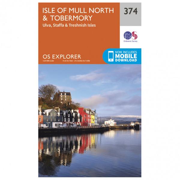 Ordnance Survey - Isle Of Mull North / Tobermroy - Hiking map
