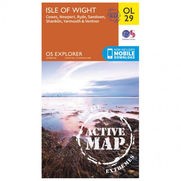 Ordnance Survey - Isle Of Wight / Cowes / Newport / Ryde Waterproof - Mapa de senderos