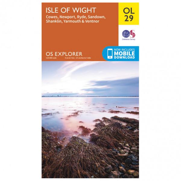 Ordnance Survey - Isle Of Wight Outdoor EGMOL029 - Wanderkarte