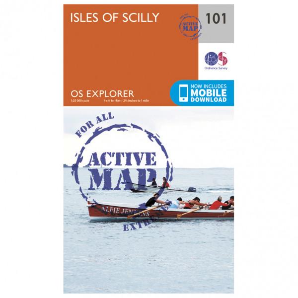 Ordnance Survey - Isles Of Scilly Waterproof - Vandrekort