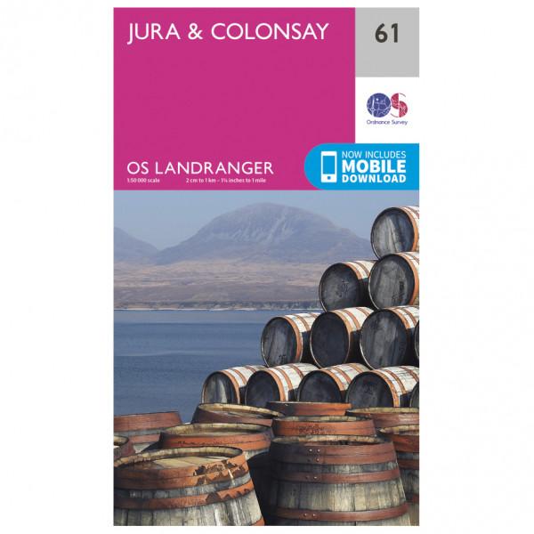 Ordnance Survey - Jura / Colonsay - Vandrekort