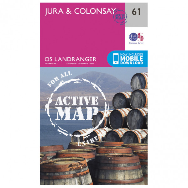 Ordnance Survey - Jura / Colonsay Waterproof - Vandrekort