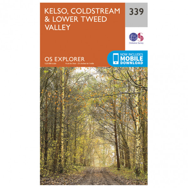 Ordnance Survey - Kelso / Coldstream / Lower Tweed Valley - Hiking map