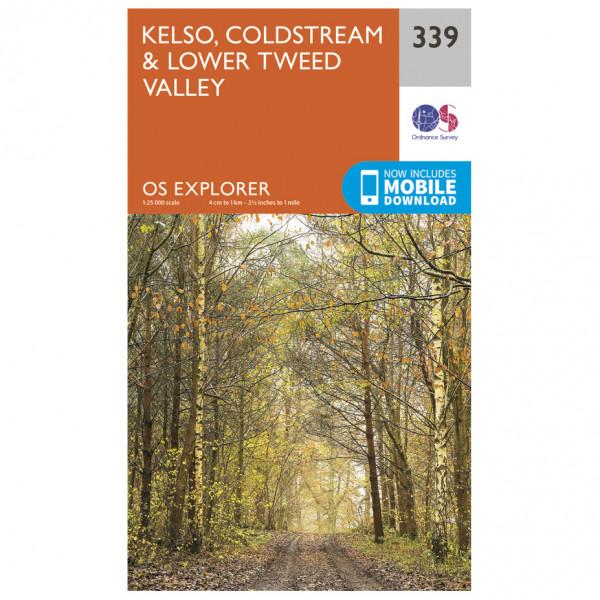 Ordnance Survey - Kelso / Coldstream / Lower Tweed Valley - Wanderkarte