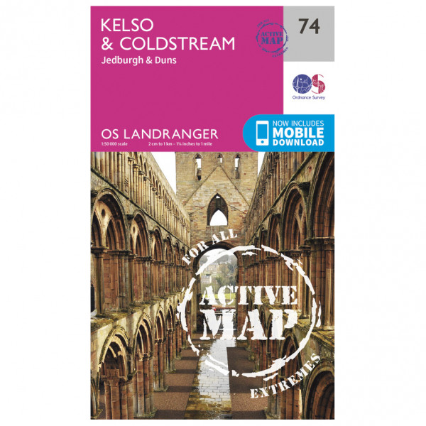 Ordnance Survey - Kelso / Coldstream Waterproof - Hiking map