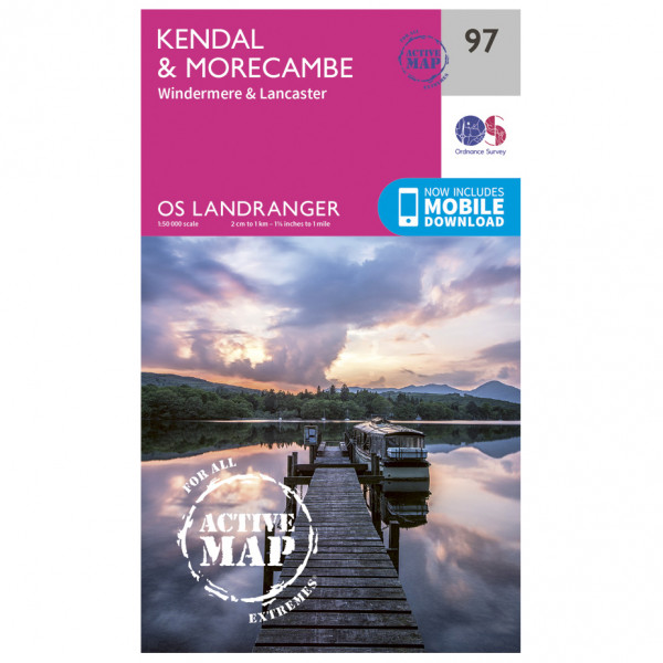Ordnance Survey - Kendal / Morecambe Waterproof - Vandrekort