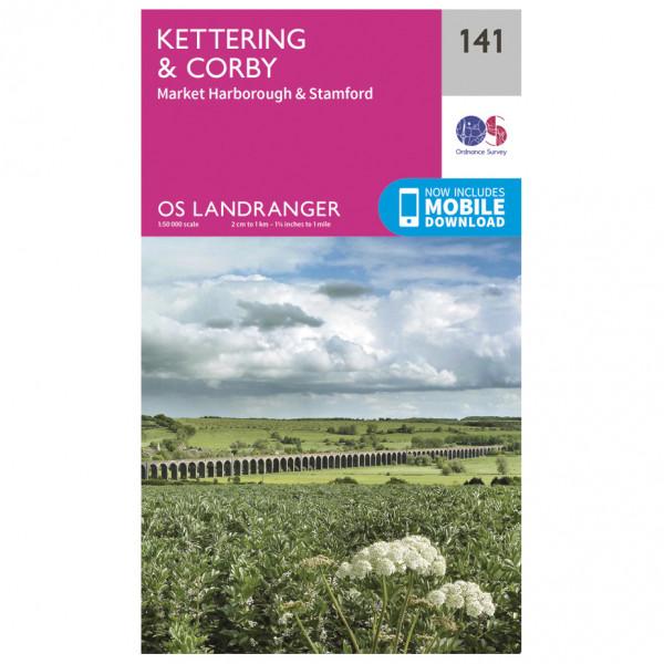 Ordnance Survey - Kettering / Corby - Vandringskartor