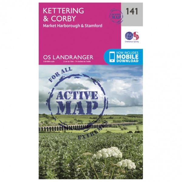 Ordnance Survey - Kettering / Corby Waterproof - Vaelluskartat