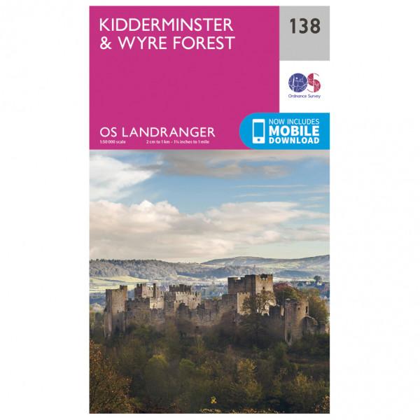 Ordnance Survey - Kidderminster / Wyre Forest - Vandrekort