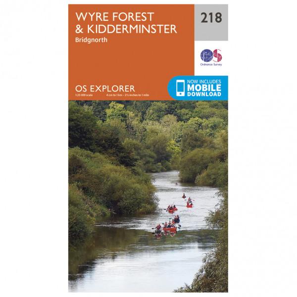 Ordnance Survey - Kidderminster / Wyre Forest Explorer - Hiking map