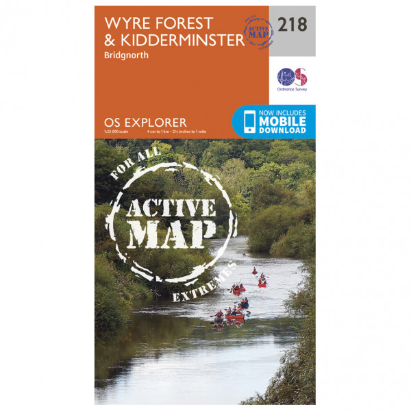 Ordnance Survey - Kidderminster / Wyre Forest Explorer Waterproof EXPL218 - Wanderkarte