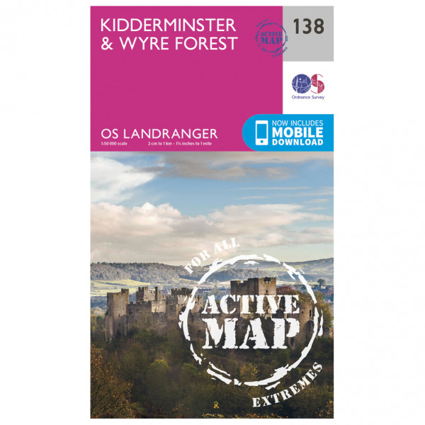 Ordnance Survey - Kidderminster / Wyre Forest Waterproof - Hiking map