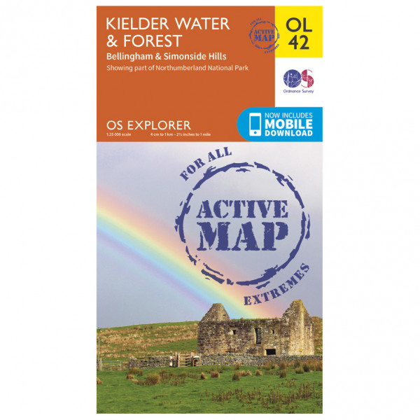 Ordnance Survey - Kielder Water / Forest Waterproof - Vandrekort