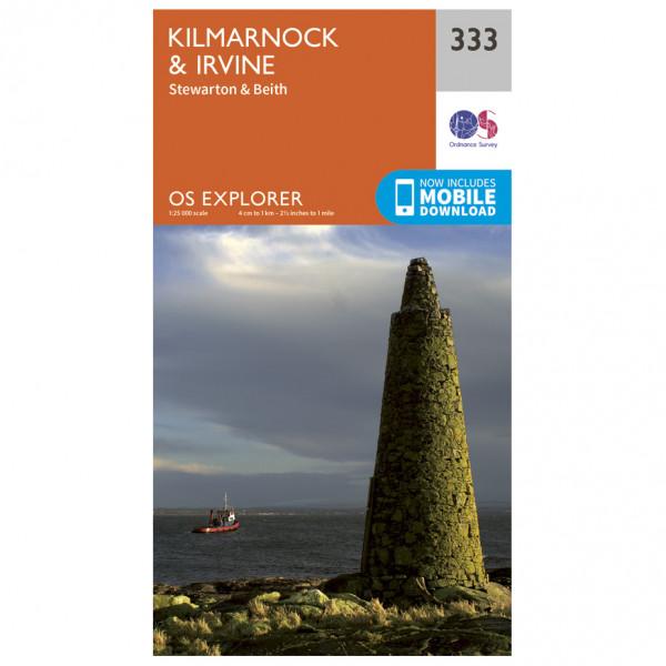 Ordnance Survey - Kilmarnock / Irvine EXP333 - Wanderkarte