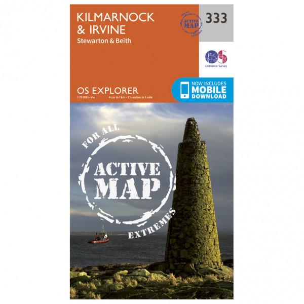 Ordnance Survey - Kilmarnock / Irvine Waterproof - Vaelluskartat