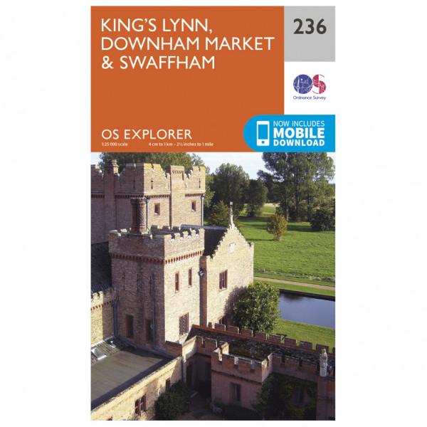Ordnance Survey - King's Lynn / Downham Market / Swaffham - Wandelkaart