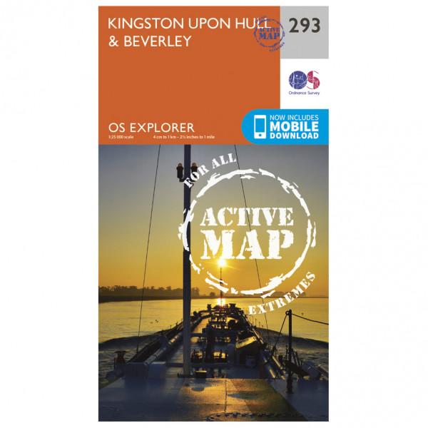Ordnance Survey - Kingston Upon Hull / Beverley Explorer Waterproof - Vandrekort