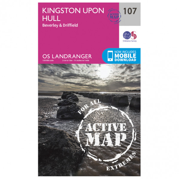 Ordnance Survey - Kingston Upon Hull / Beverley Waterproof - Vandringskartor