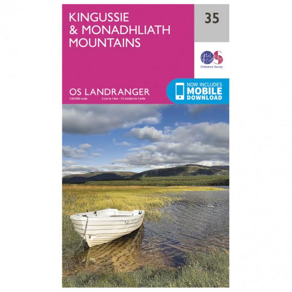 Ordnance Survey - Kingussie / Monadhliath Mountains - Vandrekort