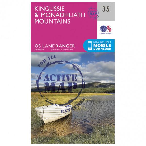 Ordnance Survey - Kingussie / Monadhliath Mountains Waterproof - Mapa de senderos