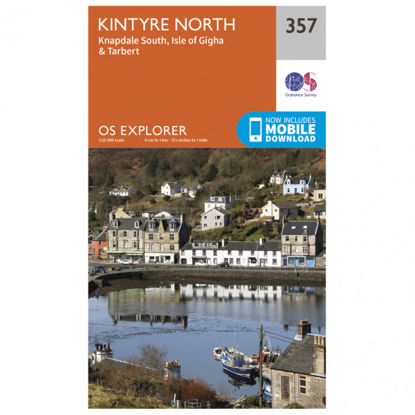Ordnance Survey - Kintyre North - Hiking map