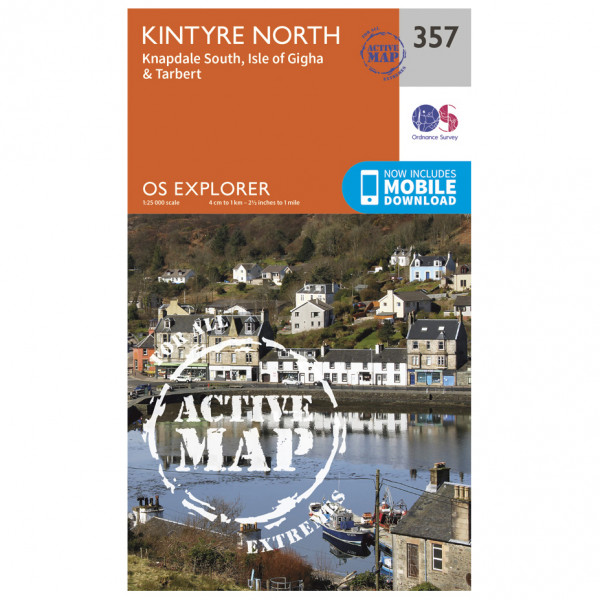 Ordnance Survey - Kintyre North Waterproof - Vandringskartor