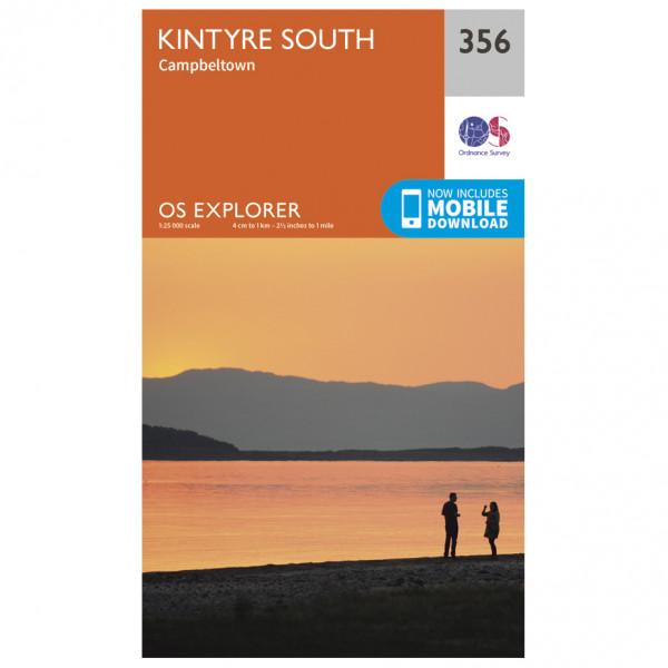 Ordnance Survey - Kintyre South - Carte de randonnée