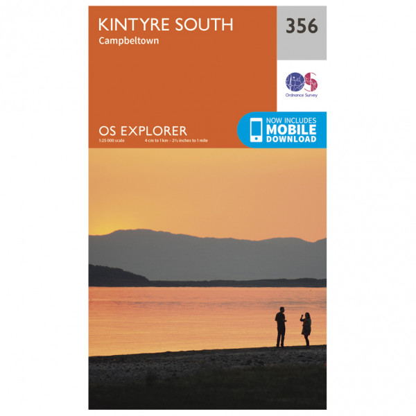 Ordnance Survey - Kintyre South - Vaelluskartat