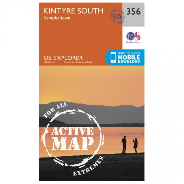 Ordnance Survey - Kintyre South Campeltown Waterproof - Hiking map