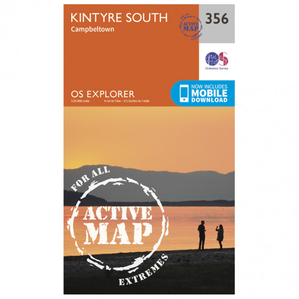Ordnance Survey - Kintyre South Campeltown Waterproof - Wandelkaarten