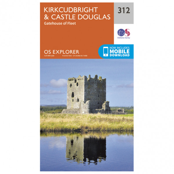 Ordnance Survey - Kirkcudbright / Castle Douglas - Vandrekort