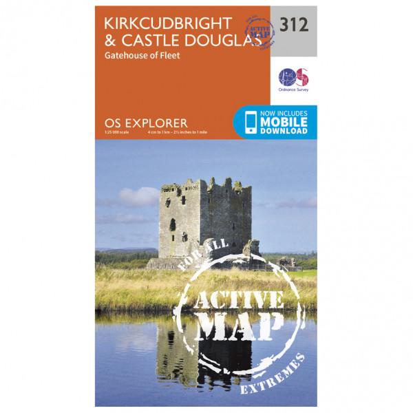 Ordnance Survey - Kirkcudbright / Castle Douglas Waterproof - Vandrekort